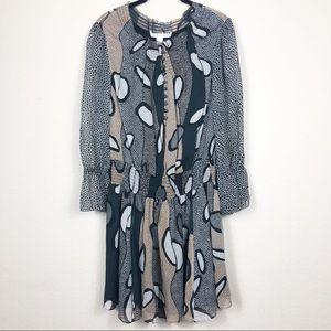 DVF | 100% silk gathered waist dress | 0